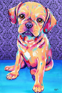 Dog painting, Animal portraits, Pet Portraits Australia, Custom pet portraits, Evei Art, Eve Izzett