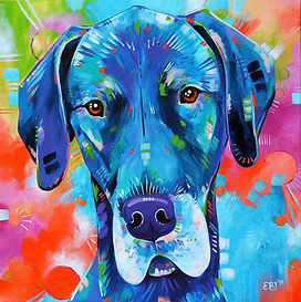 Great dane painting, Great dane art, personalized pet art, pet portrait australia, Evei Art, Eve Izzett