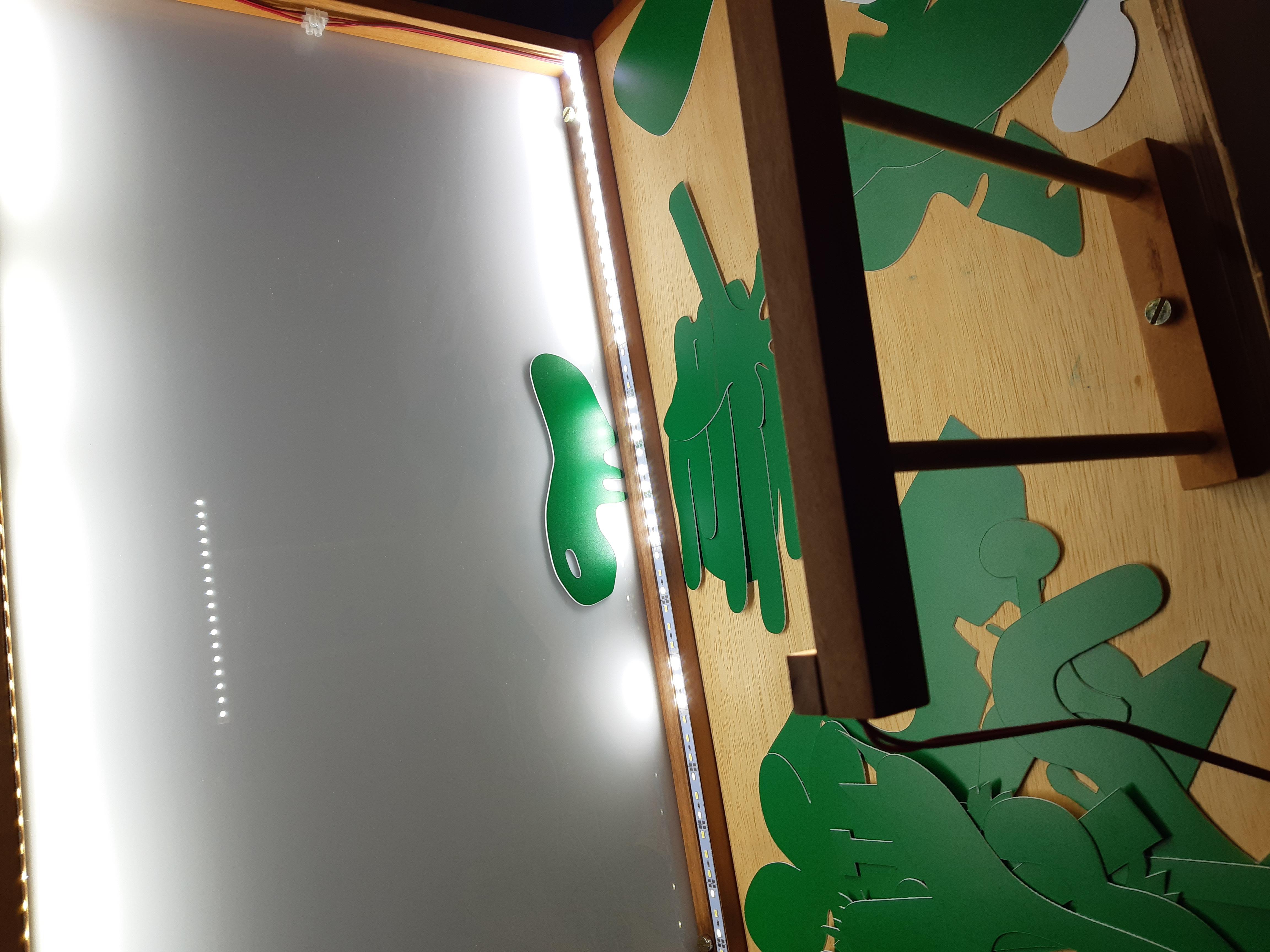 Teatro de sombras integrado a dispositivo lúdico de mediação
