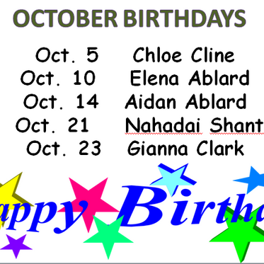 October Birthday's