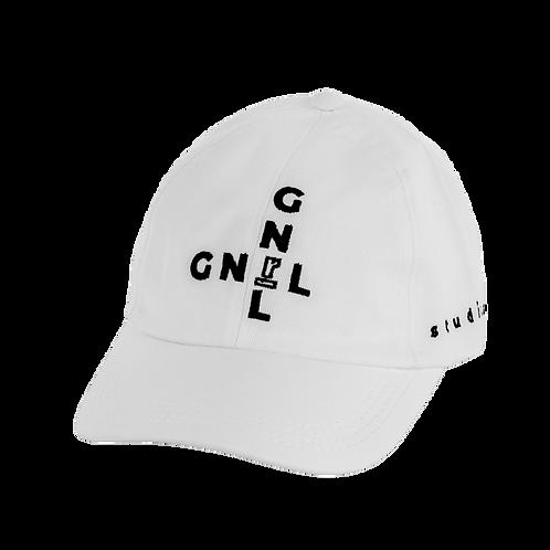 Gorra blanca cruz