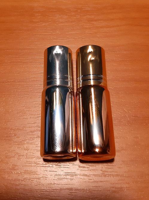 Флакон роллер золото/серебро 5 мл - уценка