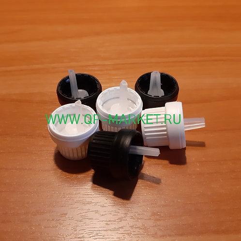 Крышка 18 мм с КПВ, с капельницей (комплект №11)