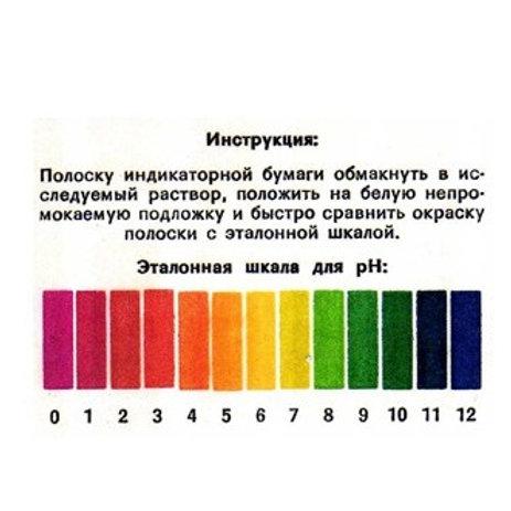 Полоски индикаторные для определения рН., 100 шт.