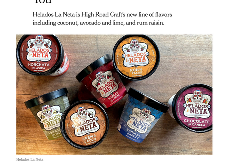 Helados La Neta featured in New York Times!・ ¡Helados La Neta en el New York Times!