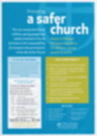 Promotingg a Safer Church website poster