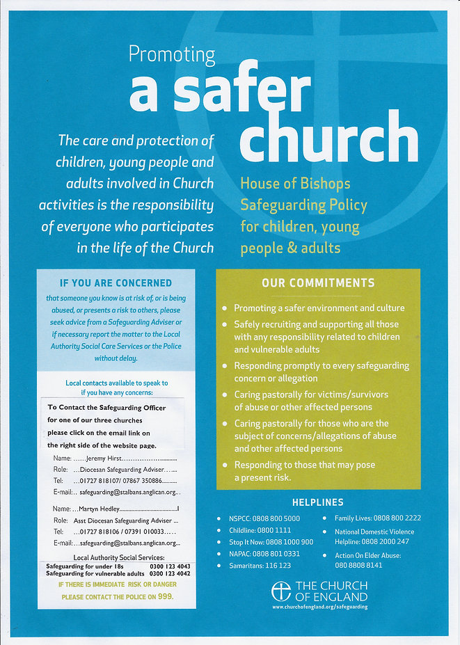 Promotingg a Safer Church website poster