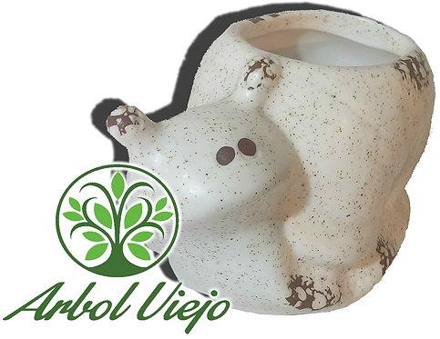 Maceta Ceramica con Diseños de Animalitos - ARBOL VIEJO