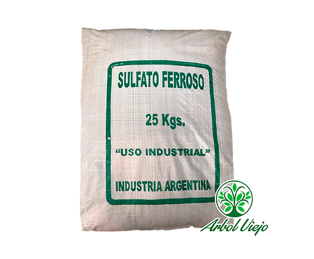 SULFATO DE HIERRO FERROSO BOLSON 25KGS