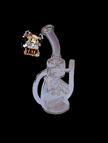 BONG GLASS DOBLE MANIJA 27CM