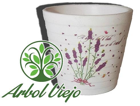 Maceta Ceramica Escalonada con Diseños  - ARBOL VIEJO