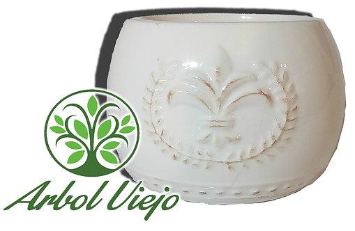 Maceta Ceramica Bols Loto Love Flor - ARBOL VIEJO