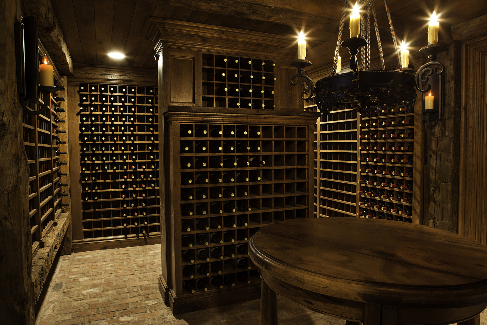Antique Oak Wine Cellar, Chester NJ