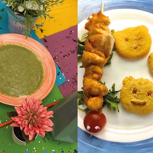 Суп-пюре «Растишка» + Гусеничка с друзьями (детское меню)