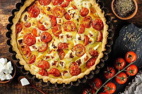 Киш с томатами и брынзой