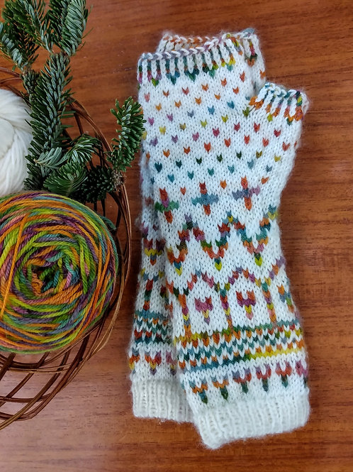 Candy Witch Mitts PDF Knitting Pattern