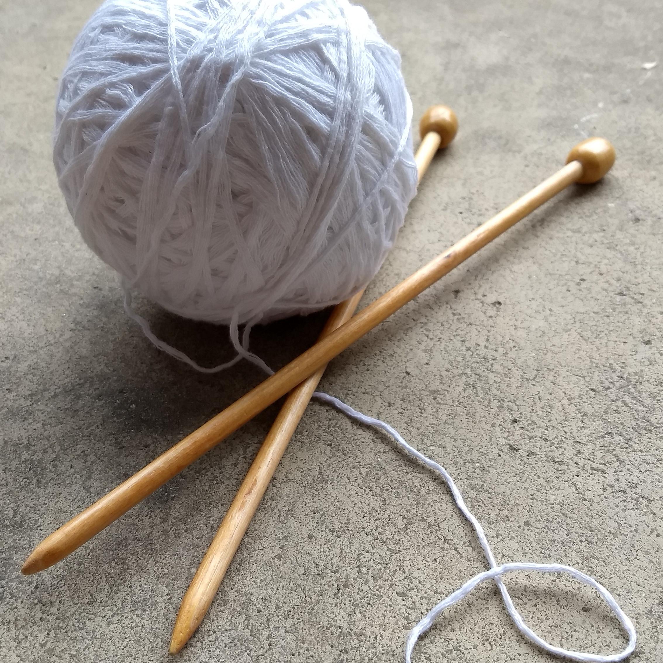 9/30 & 10/7 Knitting 1: Drawstring Bag
