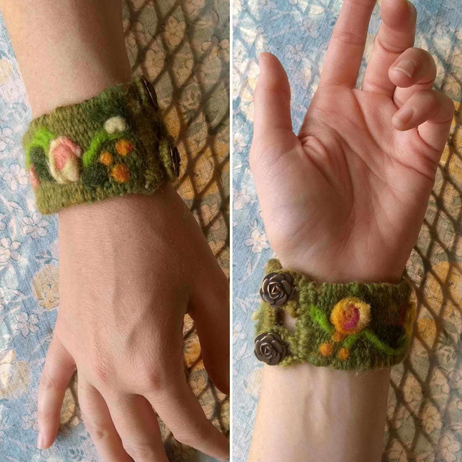 10/10,10/17 & 10/24 Weave- Handspun Cuff