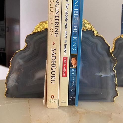 Emaarat Home Grey & Gold Book End