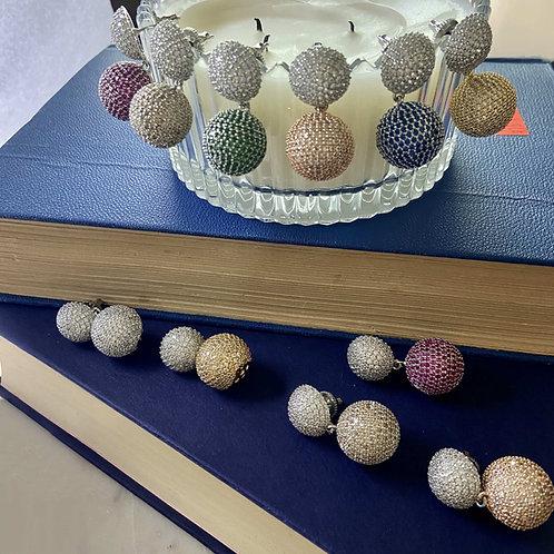 Mozaati Colour Pop Ball Earrings