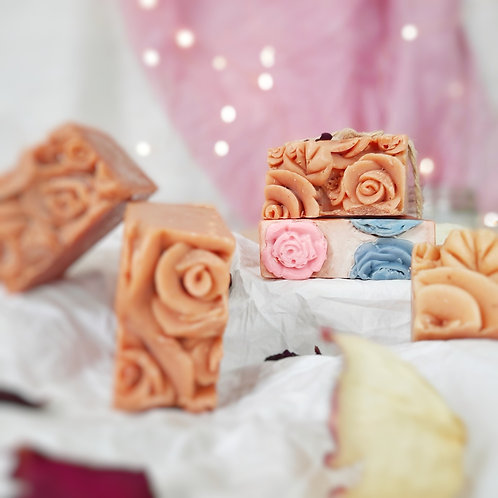 Iktara Rose Infused Organic Cold Processed Soap