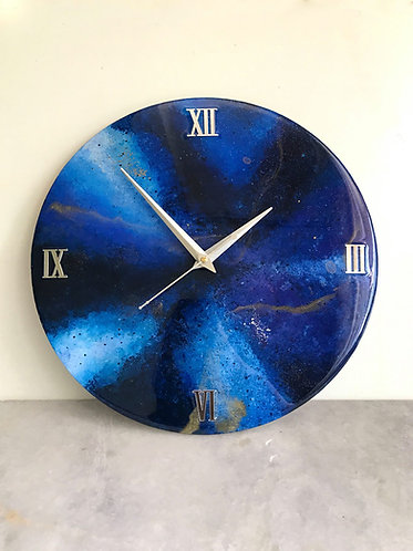 "Rashi Agrawal Art Galaxy Clock 12"""