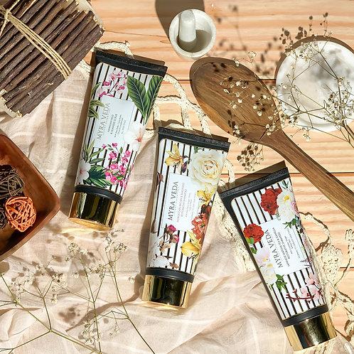 Myra Veda Japanese Matcha Shampoo + Moroccan Argan Shampoo + Hawaiian Mud Scrub