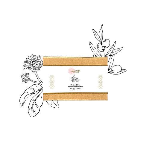 Amayra Naturals Shea & Olive Handmade Soap Bar