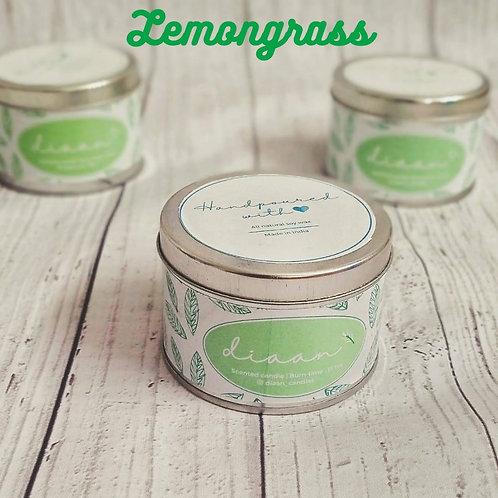 Diaan Lemongrass Travel Tin Candle