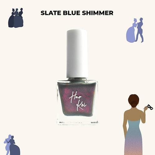 The Harkoi Lacquer Slate Blue Shimmer