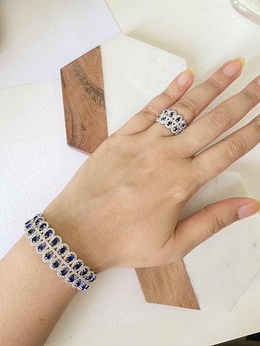 Mozaati Blue Drop Bracelet Set