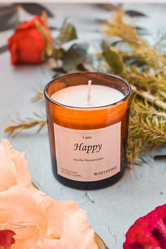 Whitefire Affirmation Candle - Happy