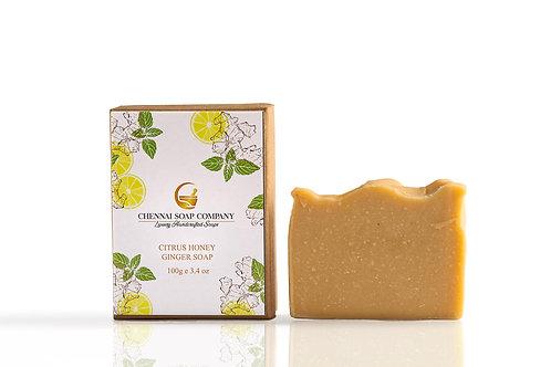 Chennai Soap Company Citrus Honey & Ginger Soap With Hemp Oil