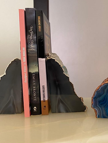 Emaarat Home Grey & Silver Book End