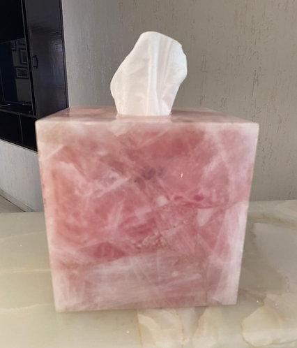 Emaarat Home Rose Quartz Tissue Box Cover