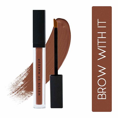 House Of Makeup Pout Potion Liquid Matte Lipstick - Brown with it