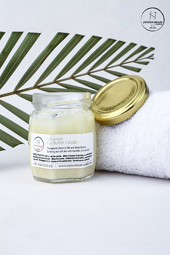 Joyous Beam Soy Butter Candle For Skin - Body Massage Candle