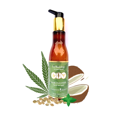 Amayra Naturals Fit Skinology Hemp Seed Oil + Rosemary + Mint  Shampoo