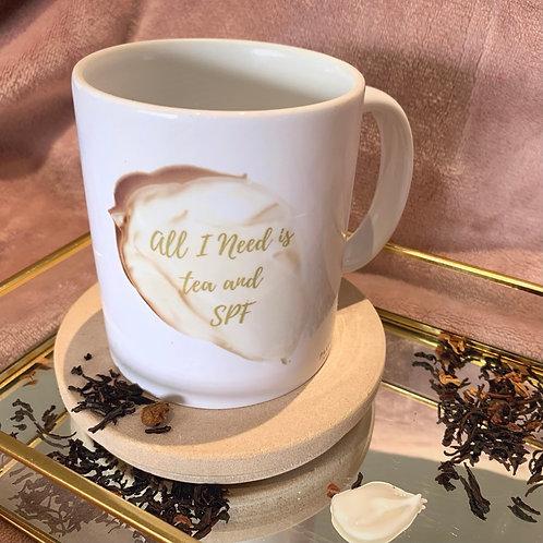 Tea & SPF White Mug