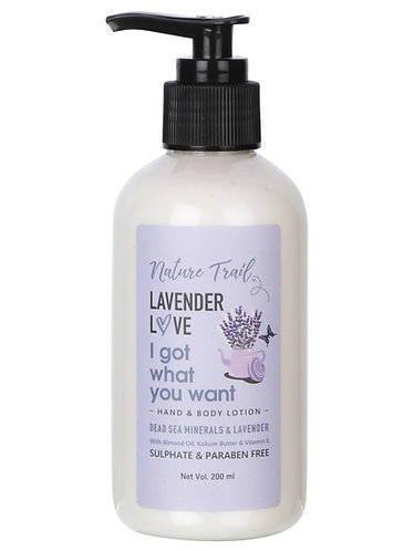 Nature Trail Lavender Love Hand and Body Lotion