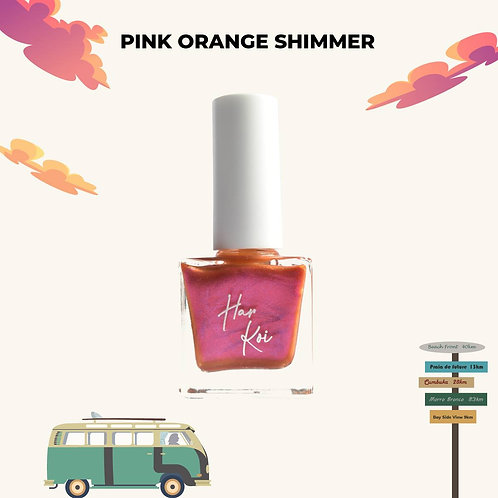 The Harkoi Lacquer Pink Orange Shimmer