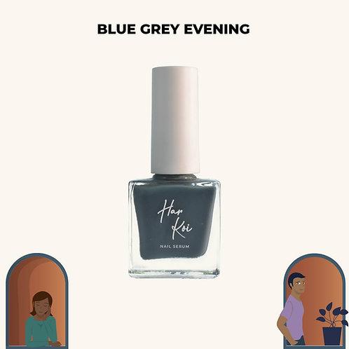 The Harkoi Nail Serum Blue Grey Evening