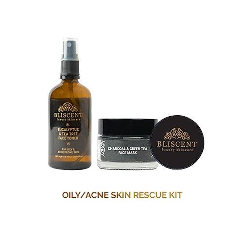BLISCENT Oily & Acne Prone Skin Rescue Kit