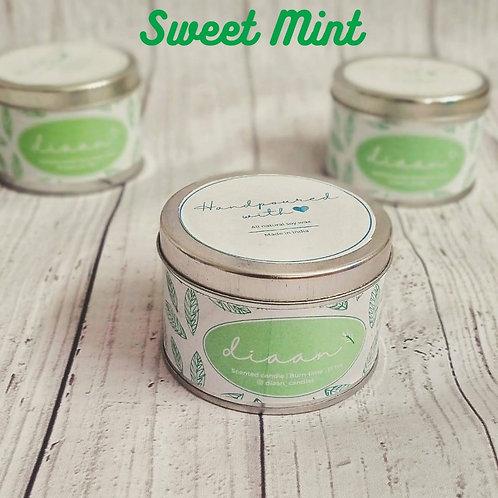 Diaan Sweet Mint Travel Tin Candle