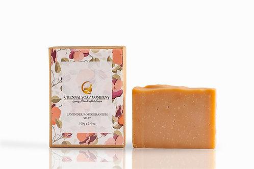 Chennai Soap Company Rose Geranium & Lavender Soap