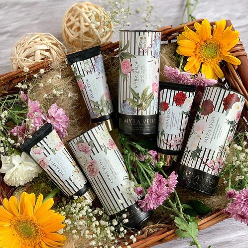 Myra Veda Greek Goddess Scrub + Mediterranean Lotion + Japanese Matcha Shampoo