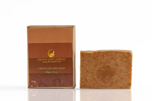 Chennai Soap Company Chocolate Mint Soap With Cacao Butter