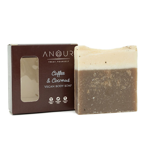 Anour Coffee & Coconut Vegan Bathing Soap
