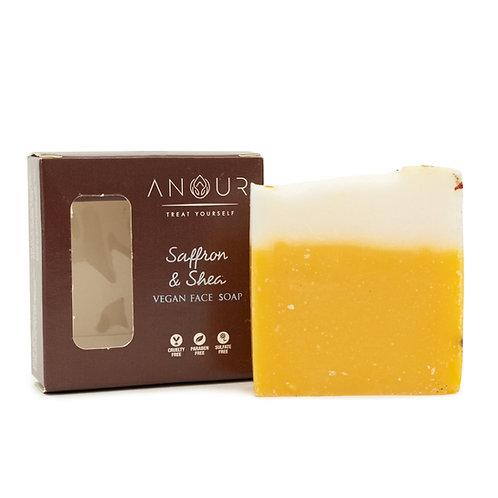 Anour Saffron & Shea Vegan Face Soap