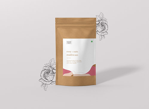 Nature Therapy Rose + Oats Mukhwaas